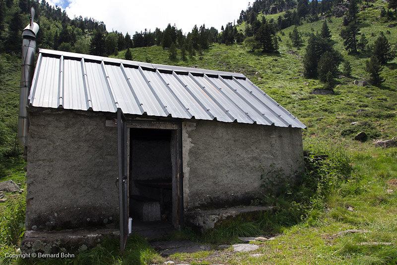 cabane prés du Lac Laujo
