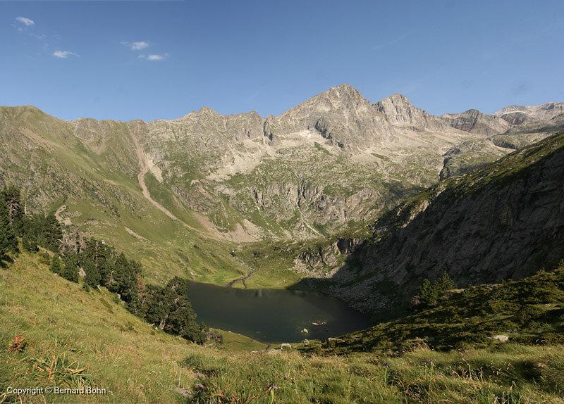 Lac Espingo vu depuis val d'Arrouge